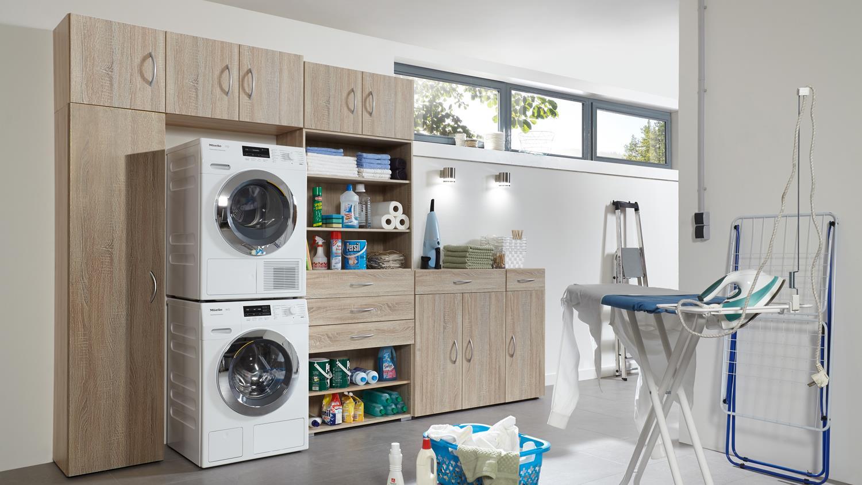 waschzimmer multi room regalsystem eiche s gerau. Black Bedroom Furniture Sets. Home Design Ideas