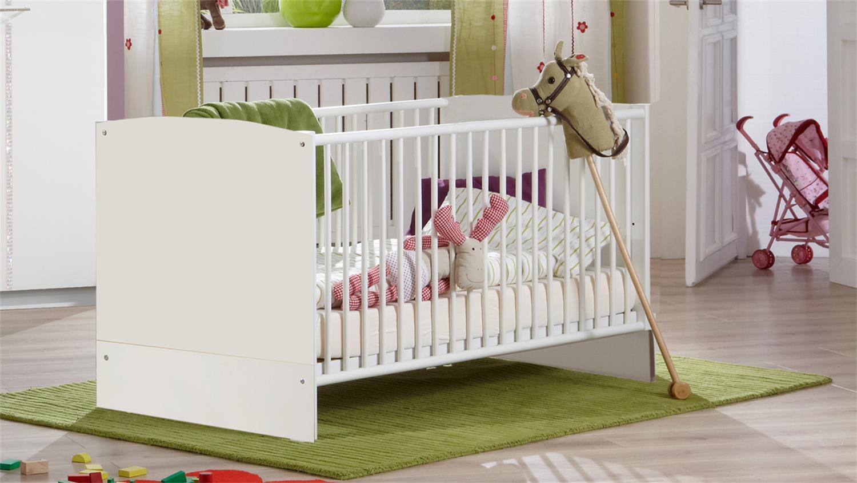 elly 5-teilig weiß strass babybett wickelkommode schrank