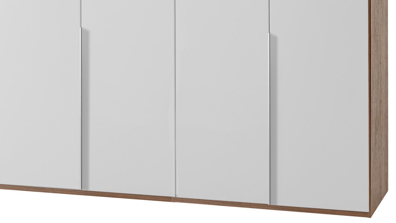 kleiderschrank new york a in alpinwei und nussbaum 270 cm. Black Bedroom Furniture Sets. Home Design Ideas