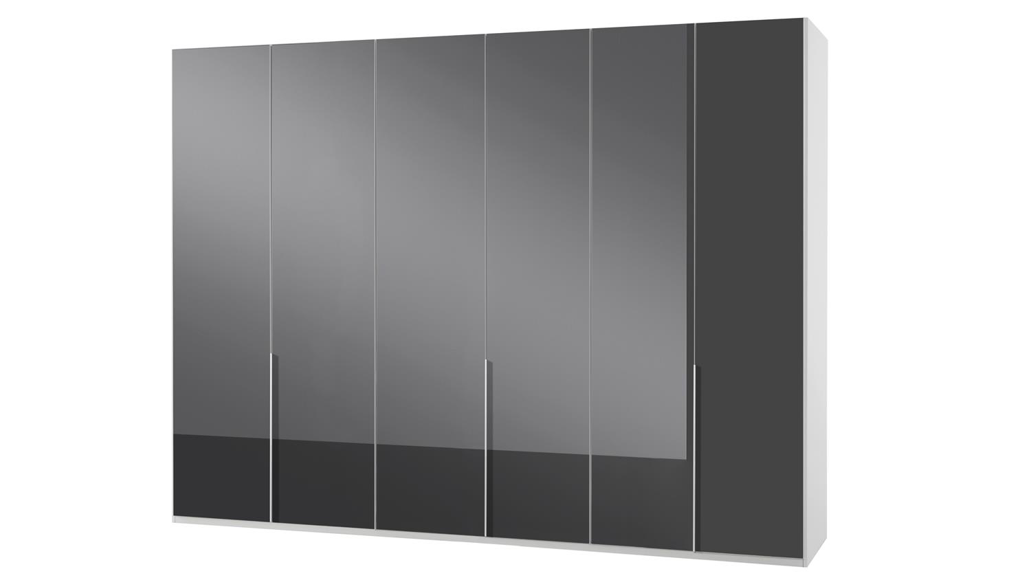 kleiderschrank new york c in glas grau alpinwei 270 cm. Black Bedroom Furniture Sets. Home Design Ideas
