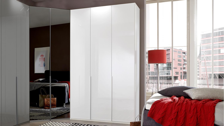 kleiderschrank new york d pearlglanz softwhite 135 cm. Black Bedroom Furniture Sets. Home Design Ideas