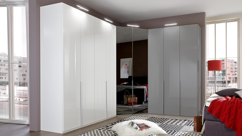 kleiderschrank new york d pearlglanz softwhite 180 cm. Black Bedroom Furniture Sets. Home Design Ideas