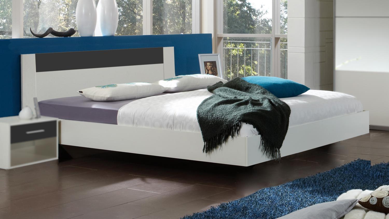 futonbett ilona 180x200 in alpinwei absetzung in anthrazit. Black Bedroom Furniture Sets. Home Design Ideas