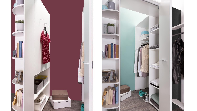 begehbarer eckschrank joker in alpinwei und anthrazit. Black Bedroom Furniture Sets. Home Design Ideas