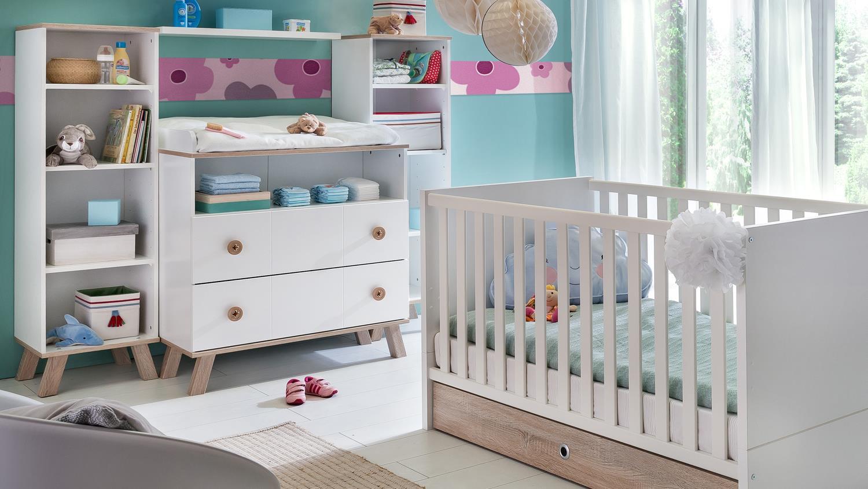 babyzimmer komplettset 2 billu alpinwei und eiche s gerau. Black Bedroom Furniture Sets. Home Design Ideas