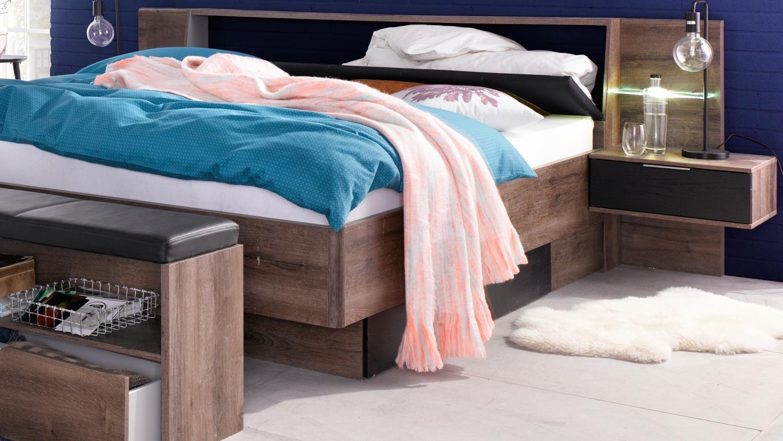 schlafzimmer komplettset virgo schwarzeiche und. Black Bedroom Furniture Sets. Home Design Ideas