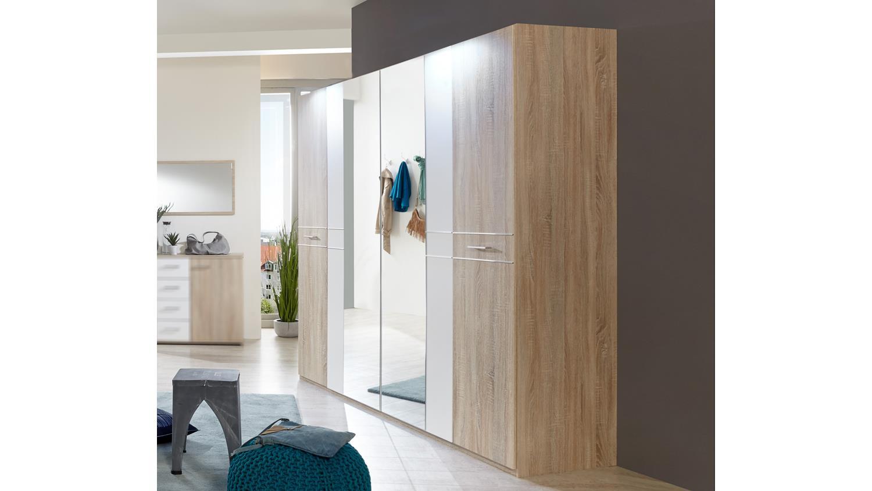 kleiderschrank petra dreht renschrank in eiche s gerau und alpinwei. Black Bedroom Furniture Sets. Home Design Ideas