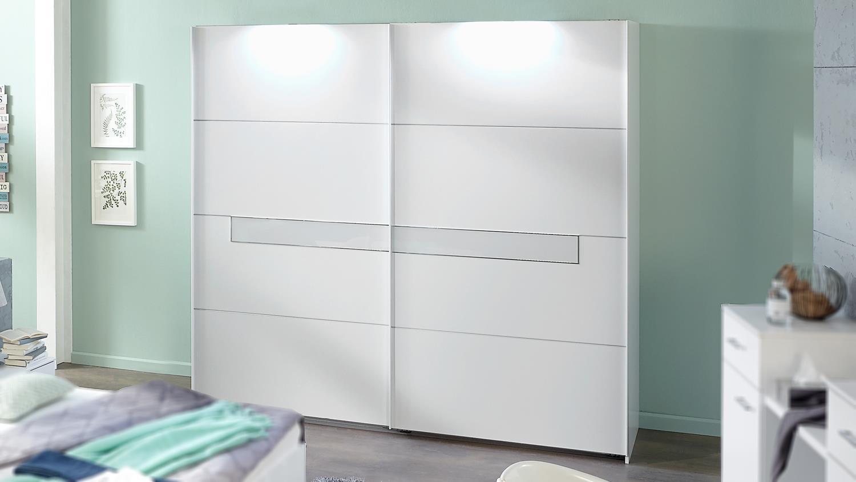 schwebet renschrank pamela kleiderschrank in alpinwei und glas wei. Black Bedroom Furniture Sets. Home Design Ideas
