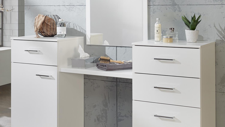 schminktisch pamela kosmetiktisch in alpinwei mit spiegel. Black Bedroom Furniture Sets. Home Design Ideas