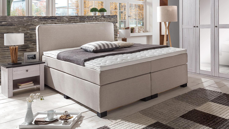 boxspringbett ibisa bett f r schlafzimmer in beige 180x200 cm. Black Bedroom Furniture Sets. Home Design Ideas