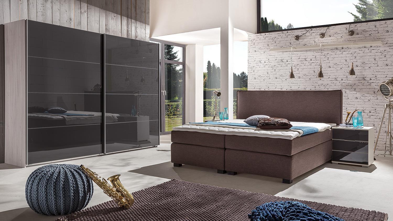Boxspringbett Leonarda Bett Fur Schlafzimmer In Braun 180x200 Cm