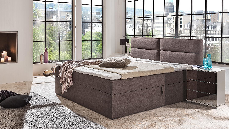 funktionsbett mit federkernbox und topper 180x200 mercura. Black Bedroom Furniture Sets. Home Design Ideas