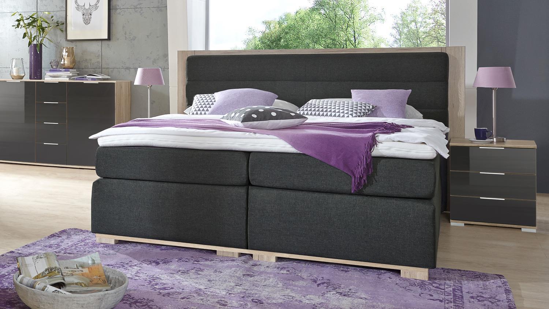 Ohio Bett Für Schlafzimmer Anthrazit San Remo Eiche 180 Schlafzimmer Anthrazit