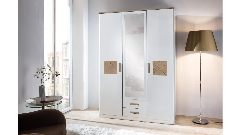 kleiderschrank k rnten schrank in wei und hirnholz mit spiegel 135. Black Bedroom Furniture Sets. Home Design Ideas