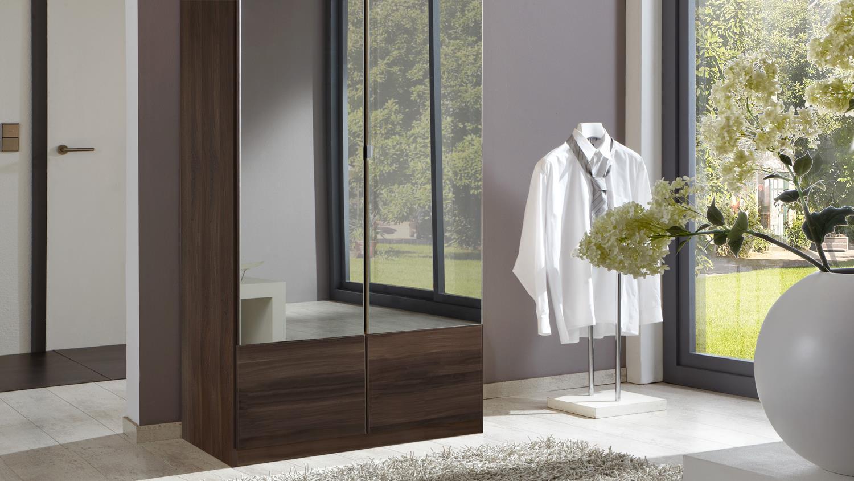Kleiderschrank IMAGO Schrank Schlafzimmerschrank in Nussbaum 90 cm