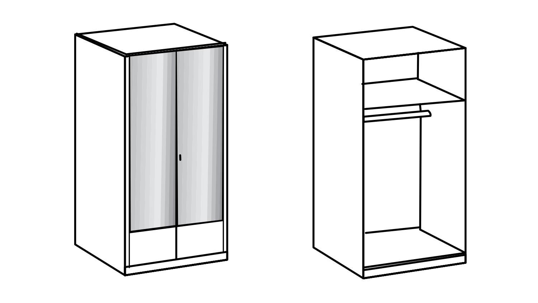 kleiderschrank imago schrank schlafzimmerschrank in wei 90 cm. Black Bedroom Furniture Sets. Home Design Ideas