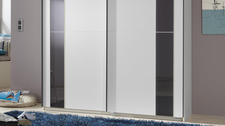 schwebet renschrank kiel kleiderschrank wei mit glas in grau 180 cm. Black Bedroom Furniture Sets. Home Design Ideas