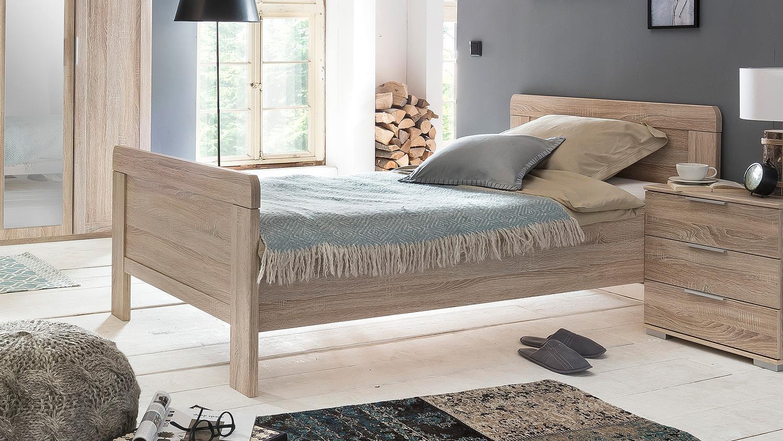 bett nadja bettgestell einzelbett schlafzimmer eiche s gerau 90x200. Black Bedroom Furniture Sets. Home Design Ideas
