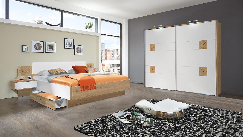 schwebet renschrank vicky kleiderschrank wei plankeneiche. Black Bedroom Furniture Sets. Home Design Ideas