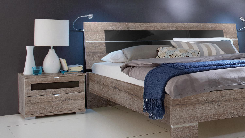 Schlafzimmer set advantage schrank bett nako schlammeiche for Schlafzimmer set schwarz