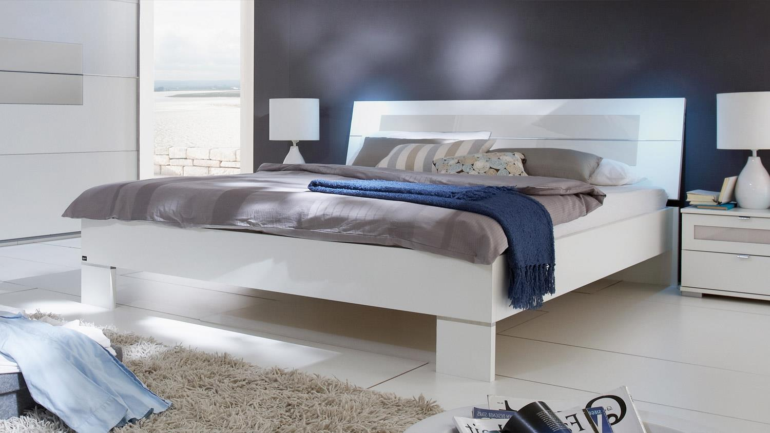 bett advantage bettgestell in schlammeiche und glas gelb grau 180x200. Black Bedroom Furniture Sets. Home Design Ideas