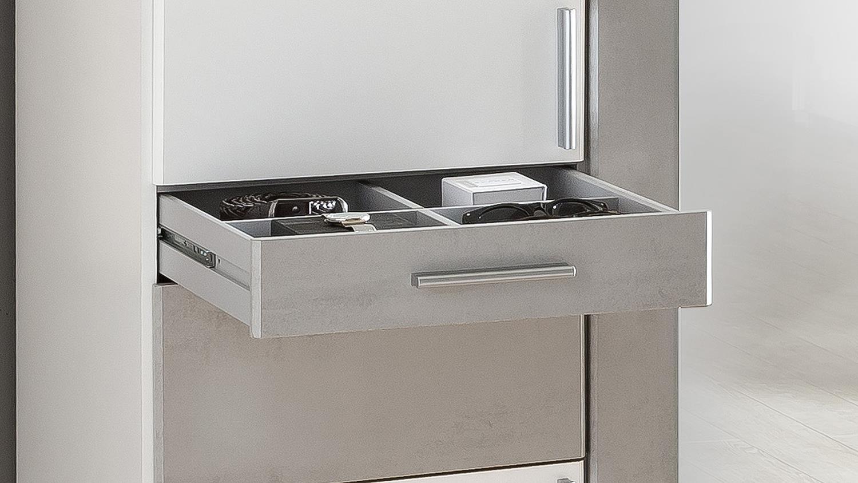 Kleiderschrank koblenz 135 cm dreht renschrank wei beton lichtgrau - Kleiderschrank betonoptik ...