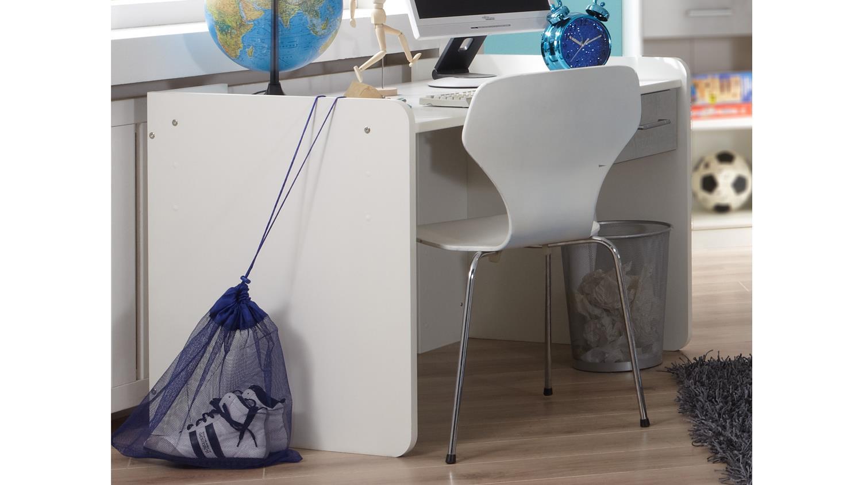 Schreibtisch rocco jugendzimmer wei beton grau for Schreibtisch jugendzimmer