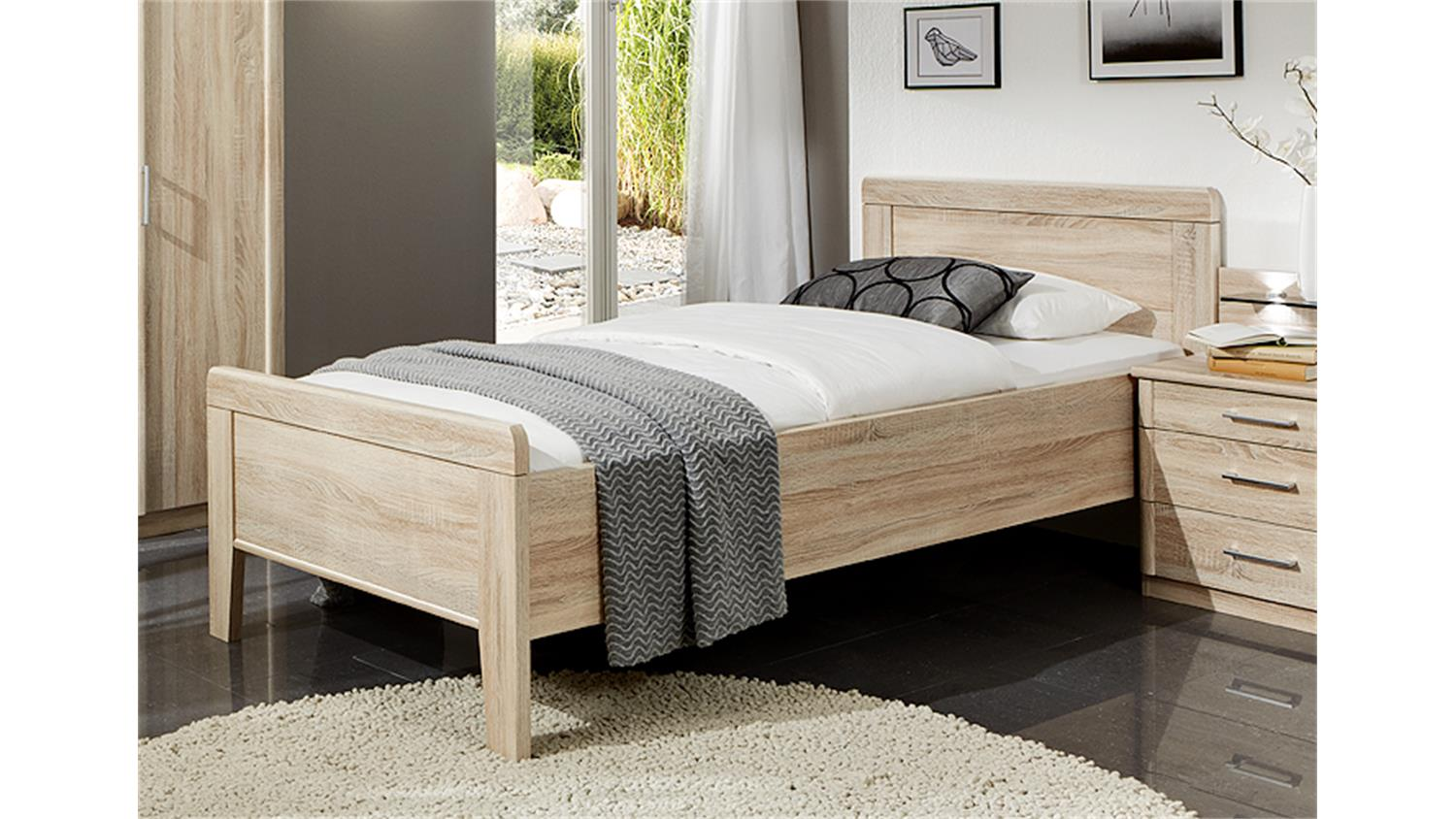 bett meran bettgestell futonbett in eiche s gerau 90x200. Black Bedroom Furniture Sets. Home Design Ideas