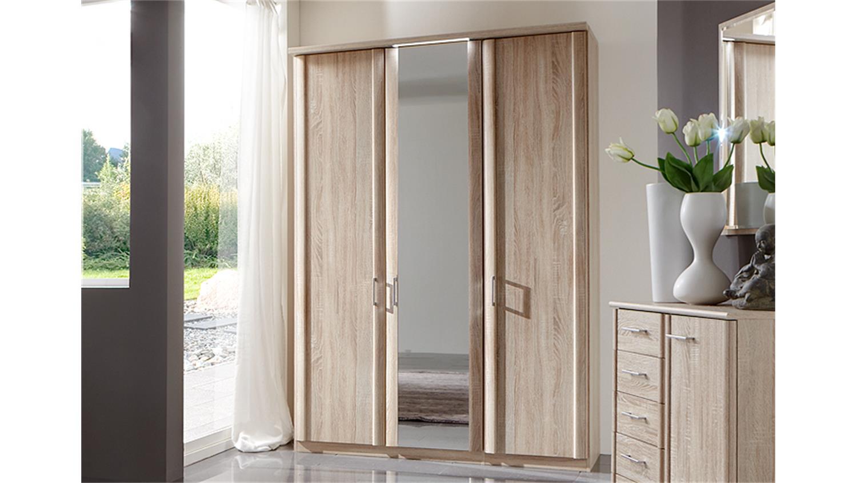 kleiderschrank meran in eiche s gerau mit spiegel 150 cm. Black Bedroom Furniture Sets. Home Design Ideas