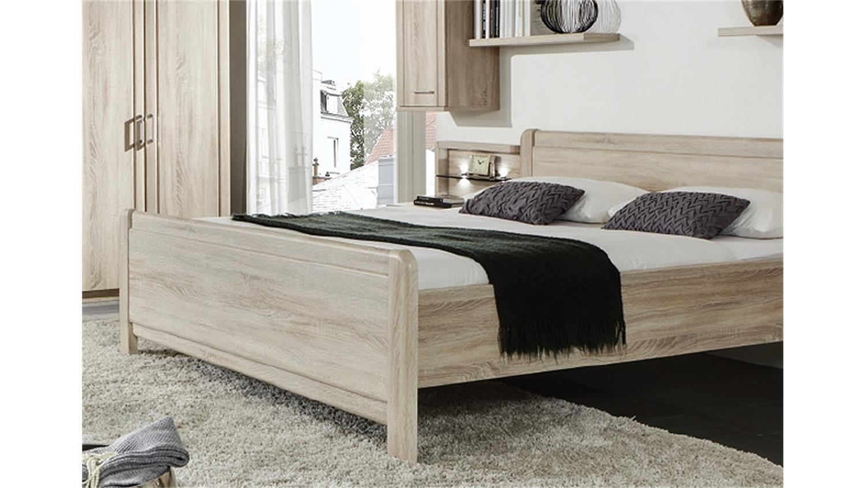 Stollenbett Valencia Bett In Eiche Sägerau 180x200 Cm