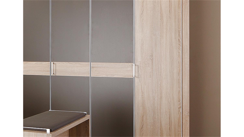 kleiderschrank donna eiche s gerau havanna 250 cm. Black Bedroom Furniture Sets. Home Design Ideas