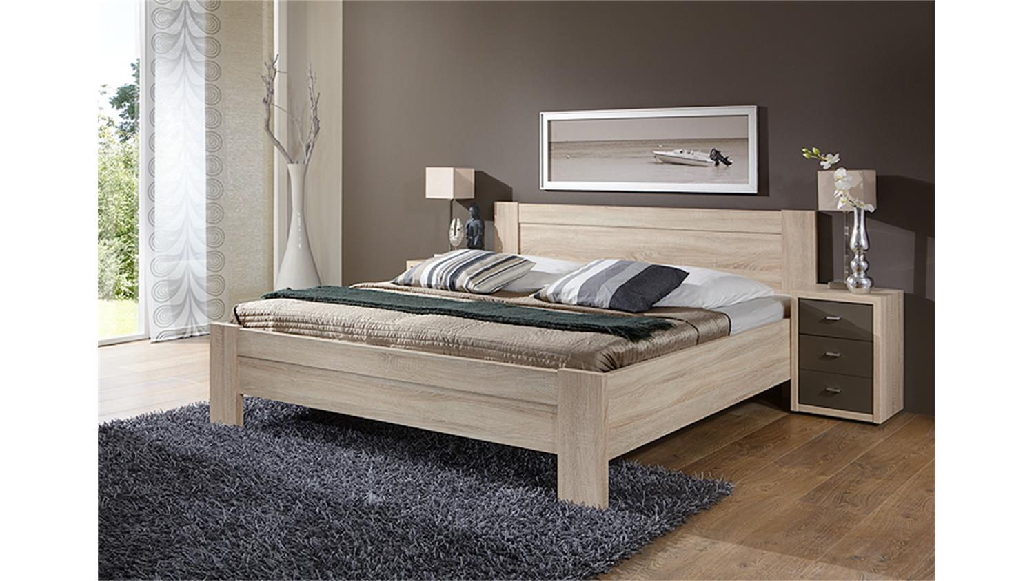 bett donna schlafzimmerbett in eiche s gerau 180x200 cm. Black Bedroom Furniture Sets. Home Design Ideas