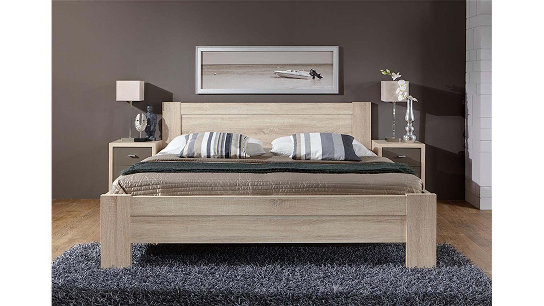 Bett Donna Schlafzimmerbett In Eiche Sagerau 180x200 Cm