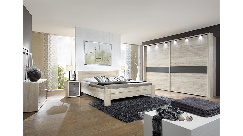 donna schlafzimmerbett in eiche sägerau 180x200 cm - Schlafzimmer Bett