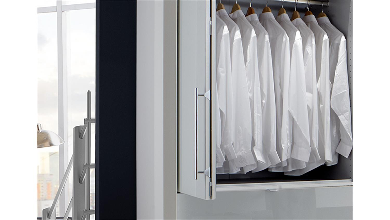 schlafzimmerset loft schrank bett nako wei und wei glas. Black Bedroom Furniture Sets. Home Design Ideas