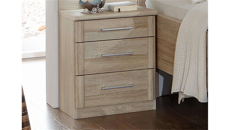 schlafzimmerset 3 meran schrank bett nako eiche s gerau. Black Bedroom Furniture Sets. Home Design Ideas