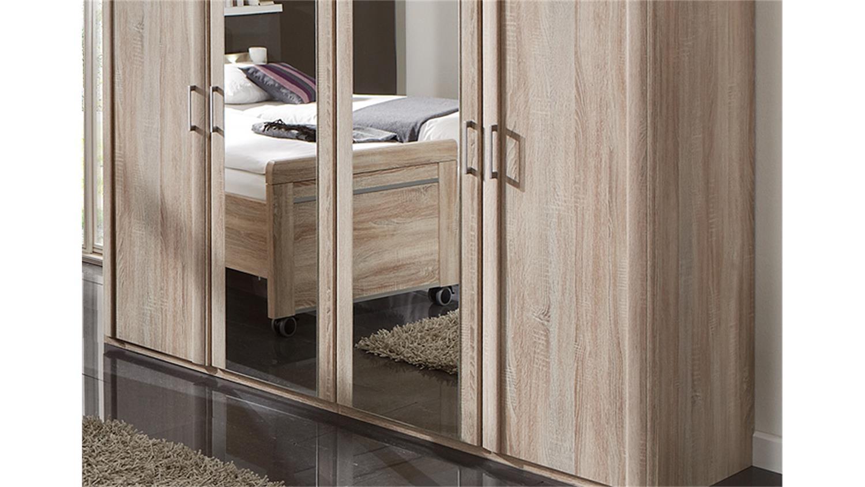 schlafzimmerset 5 meran schrank bett nako eiche s gerau. Black Bedroom Furniture Sets. Home Design Ideas
