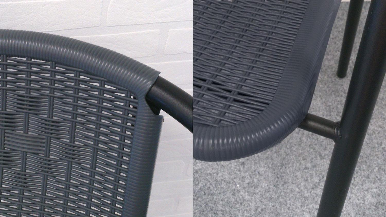 bistroset 3 teilig glastisch mit zwei kunstrattan st hlen balkonset. Black Bedroom Furniture Sets. Home Design Ideas