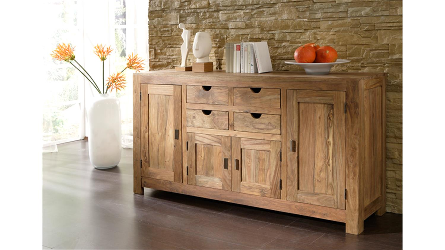 sideboard yoga sheesham massiv landhausstil von wolf m bel. Black Bedroom Furniture Sets. Home Design Ideas