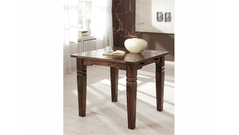esstisch bombay massivholz sheesham farbe walnuss 90x90. Black Bedroom Furniture Sets. Home Design Ideas
