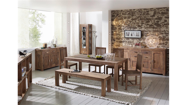 bank 180 guru 6634 akazie massiv stone von wolf m bel. Black Bedroom Furniture Sets. Home Design Ideas
