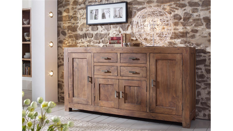 sideboard kommode guru 6649 akazie massiv stone wolf m bel. Black Bedroom Furniture Sets. Home Design Ideas