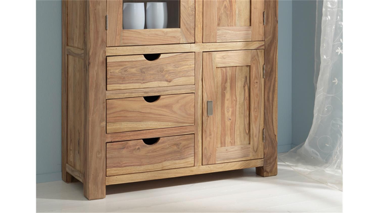 vitrine yoga 6400 sheesham massiv landhausstil wolf m bel. Black Bedroom Furniture Sets. Home Design Ideas