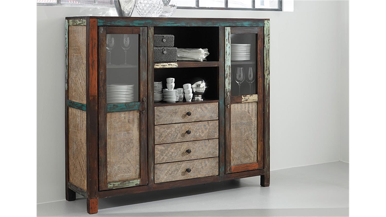 highboard goa von wolf m bel in massivholz mango. Black Bedroom Furniture Sets. Home Design Ideas
