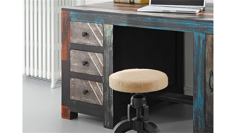 Schreibtisch goa von wolf m bel in massivholz mango for Schreibtisch vintage look