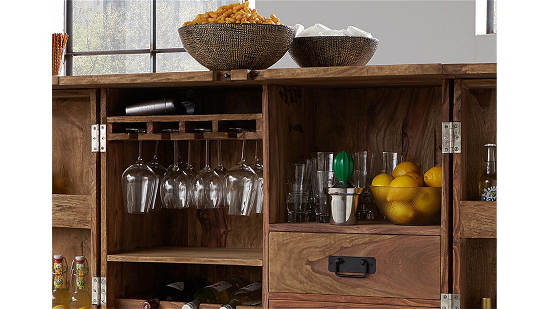 bar 6909 container von wolf m bel massivholz sheesham natur. Black Bedroom Furniture Sets. Home Design Ideas