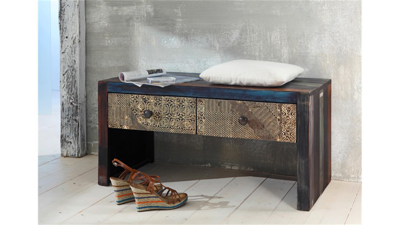 schuhbank goa konsole von wolf m bel in massivholz mango. Black Bedroom Furniture Sets. Home Design Ideas