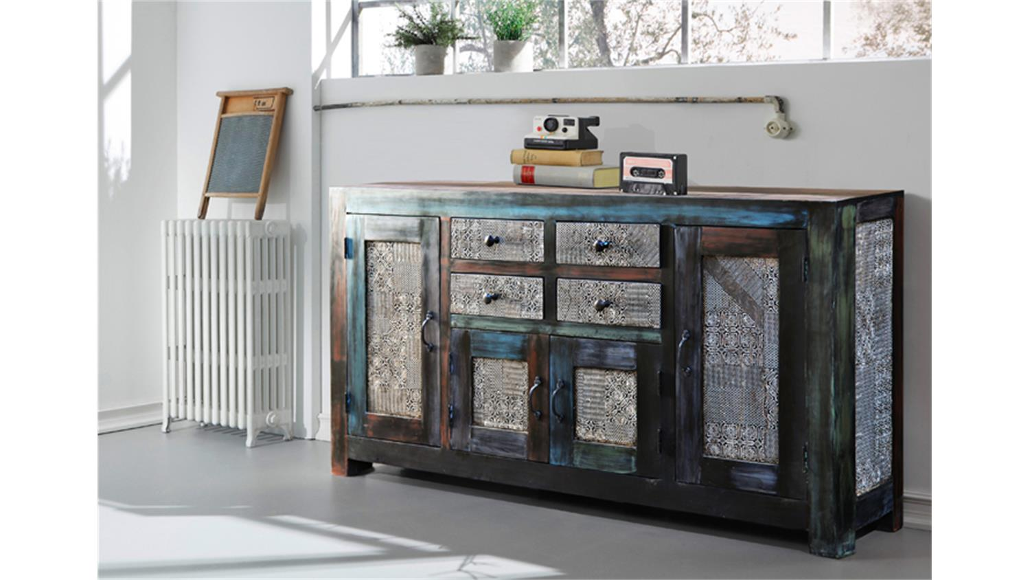 sideboard goa wolf m bel vintage kommode aus massivholz. Black Bedroom Furniture Sets. Home Design Ideas