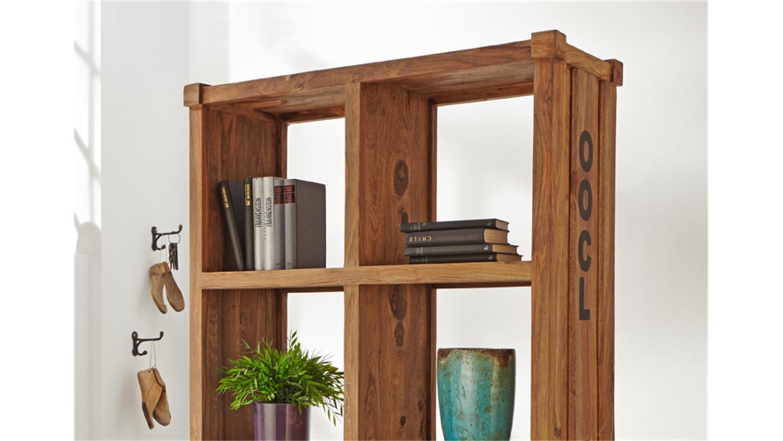 raumteiler 6913 container in massivholz sheesham natur. Black Bedroom Furniture Sets. Home Design Ideas
