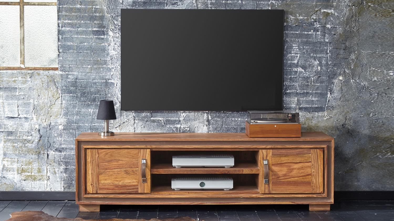 lowboard tv board shan 6302 in sheesham von wolf m bel. Black Bedroom Furniture Sets. Home Design Ideas